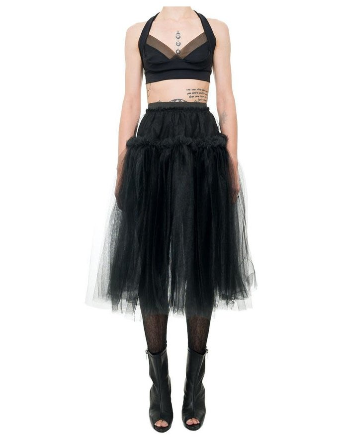 DAVIDS ROAD TULLE SKIRT WITH RUFFLE BAND
