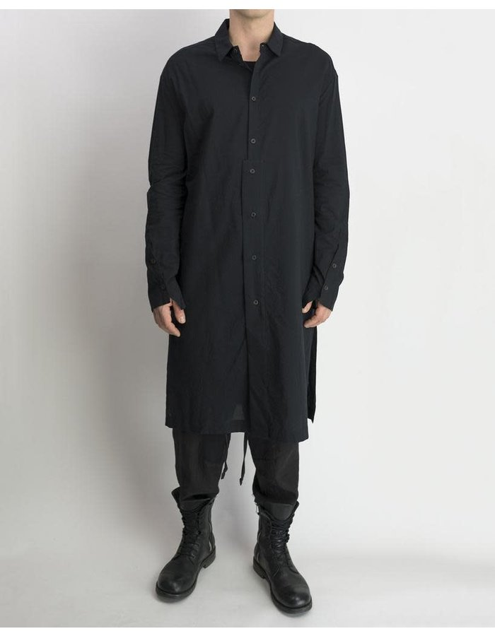 LOST AND FOUND LONG SHIRT COTTON - BLACK