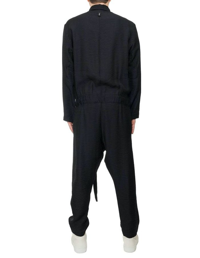 DAVIDS ROAD CREASED COTTON BELTED JUMPSUIT