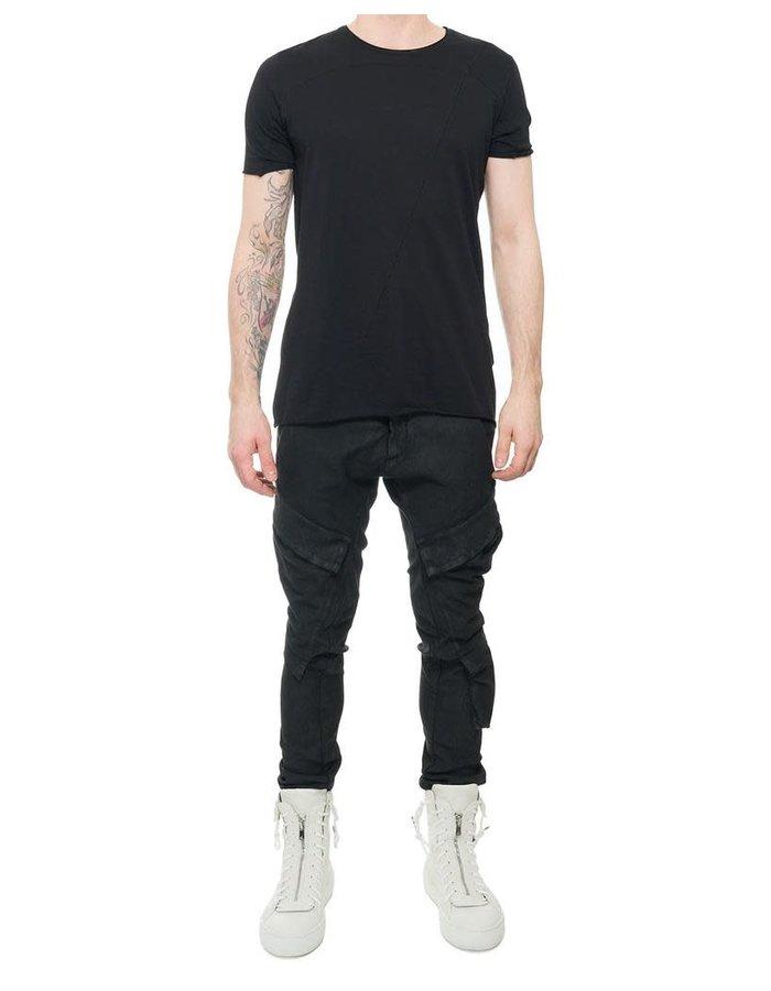 MASNADA RESINATED COMBAT PANTS - BLACK