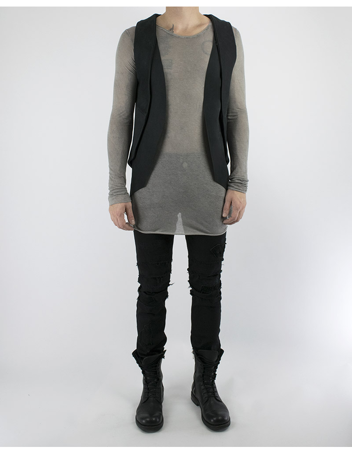 AVANT DARC TWO PIECE LEATHER VEST (SMOOTH)