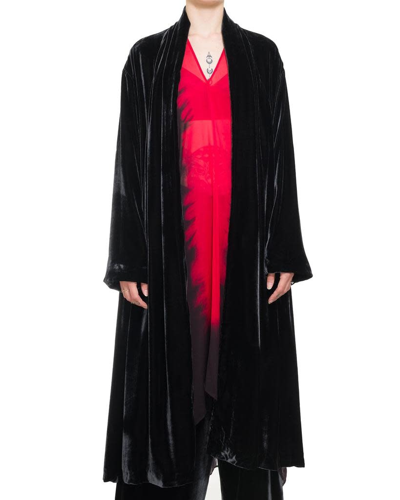 DRESSING GOWN DUSTER - BLACK
