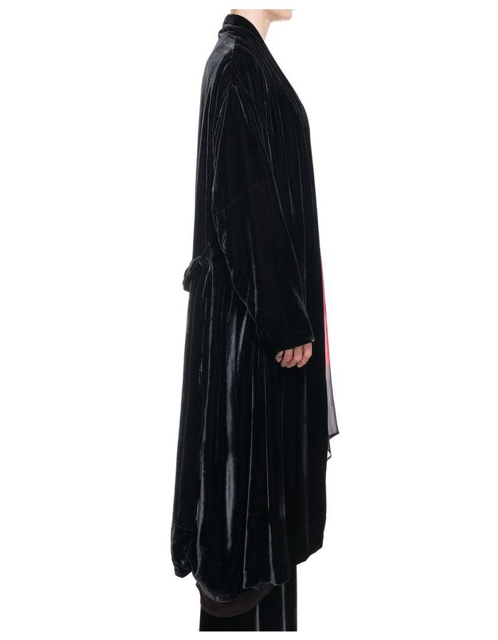 MASNADA DRESSING GOWN DUSTER - BLACK