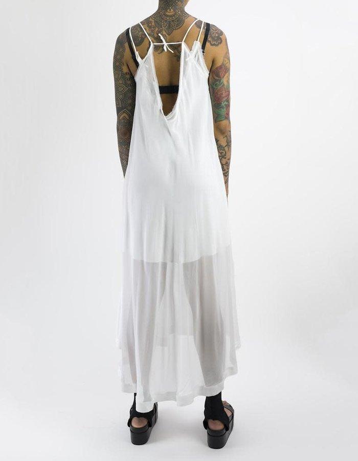 ISABEL BENENATO STRAP SILK DRESS