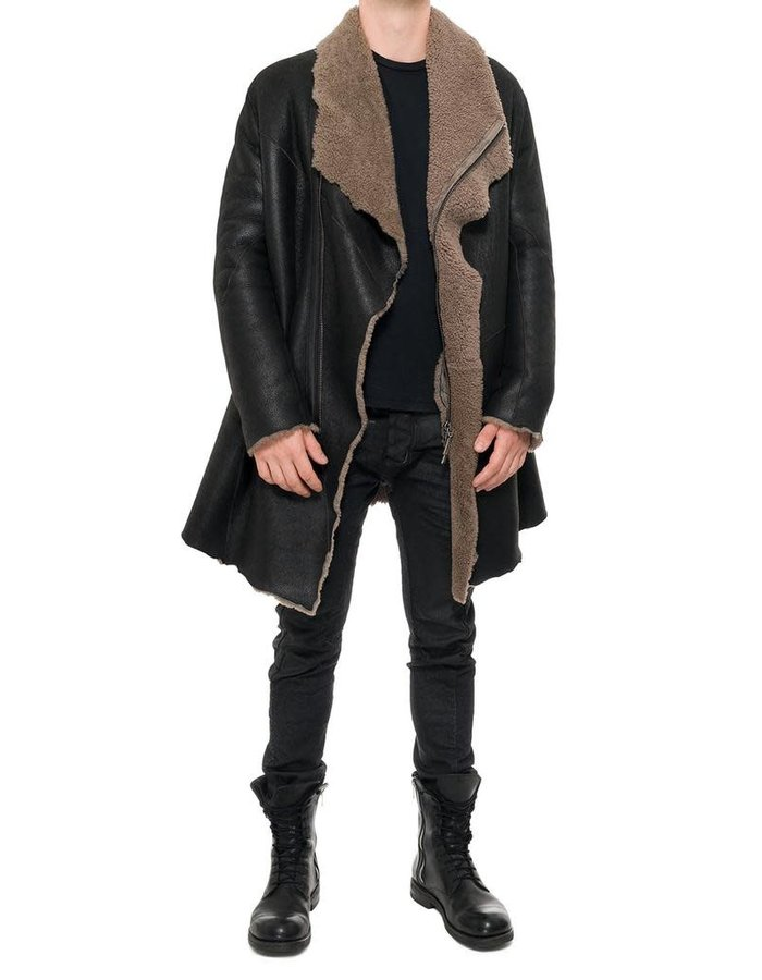 MASNADA RAW SHEEPSKIN COAT