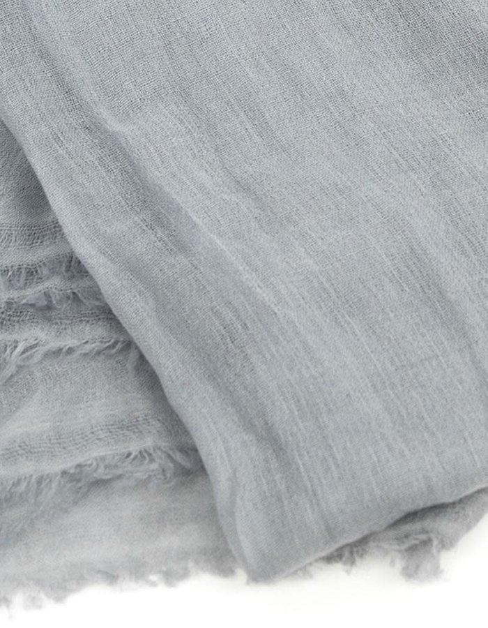 CLAUDIO CUTULI GALADRIEL 100 % CASHMERE 120 X 200 SCARF - GREY
