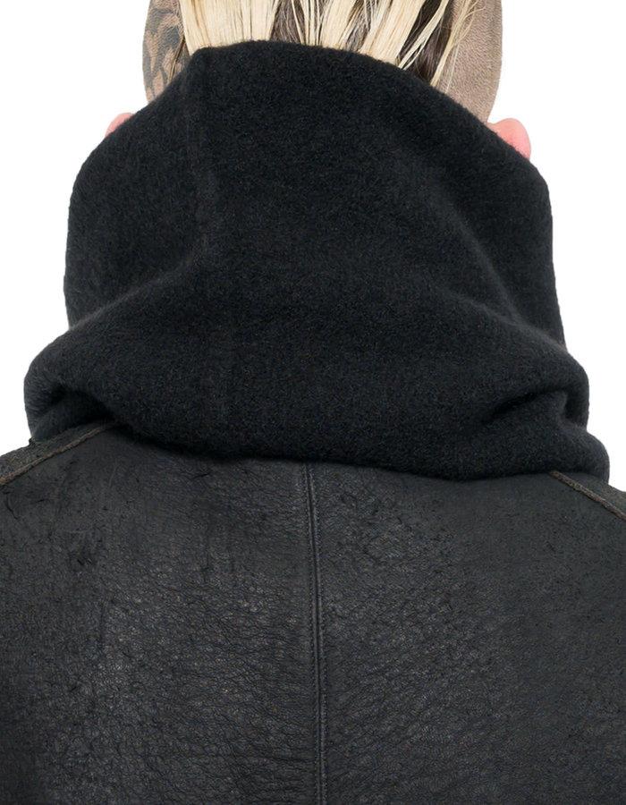 ISABEL BENENATO YAK SNOOD 19 MAN - BLACK