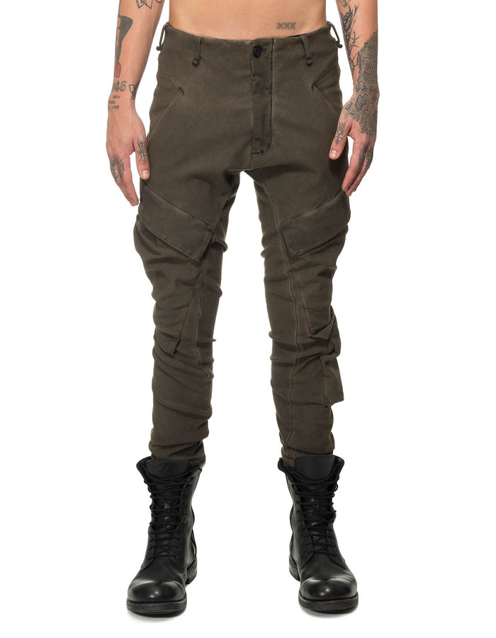 MASNADA RESINATED COMBAT PANTS - DARK ROCK
