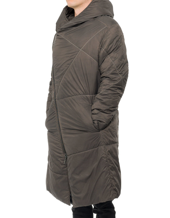 MASNADA THINDOWN STITCHED NYLON PARKA - DARK DUST