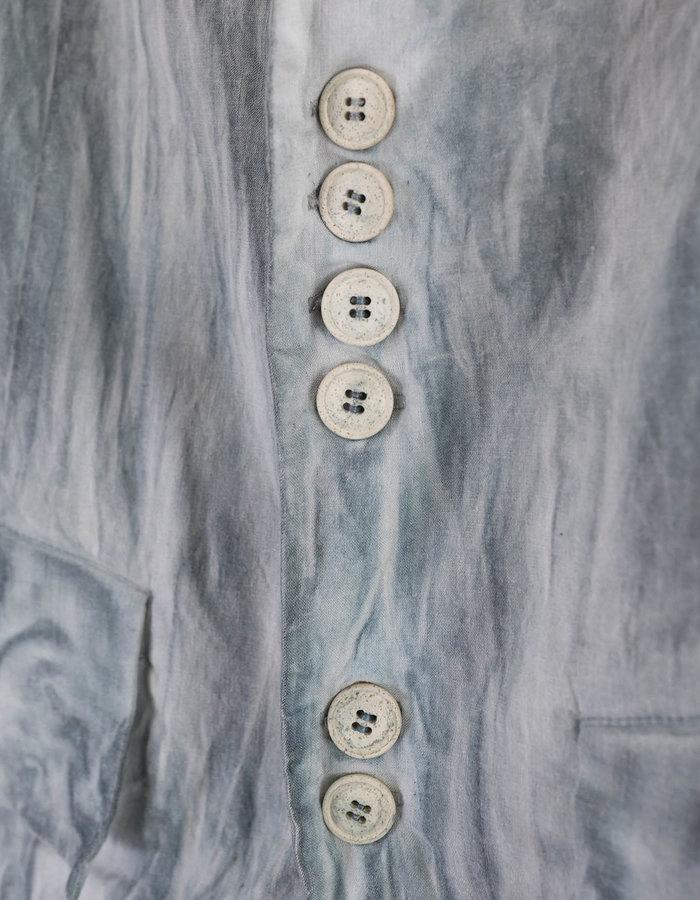 139DEC STRETCH LINEN 3/4 JACKET - GREY