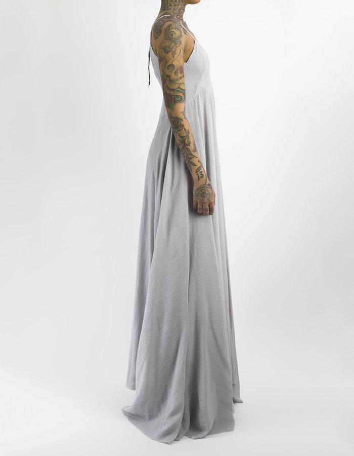 139DEC LONG V-NECK SPAGHETTI STRAP DRESS - GREY
