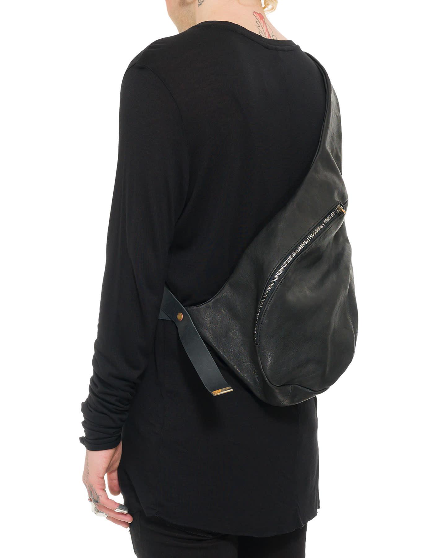 1 SHOULDER BAG HORSE LEATHER - BLACK