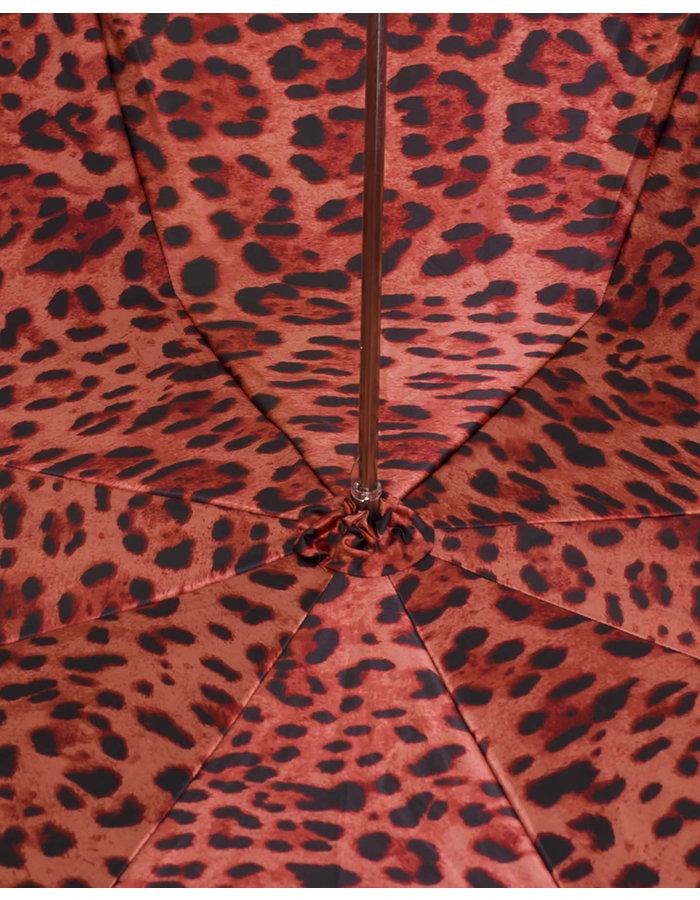 PASOTTI BLACK SKULL/RED LEOPARD DOUBLE UMBRELLA