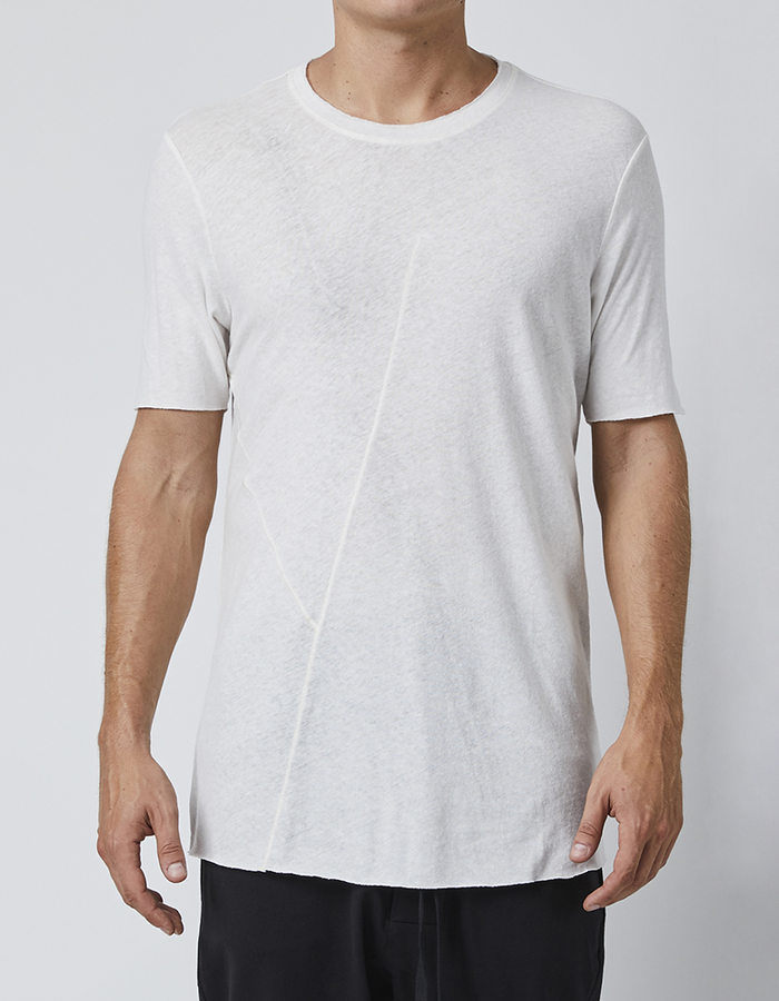 THOM KROM T-SHIRT WITH PAINTED DETAIL ON BACK - OFF WHITE