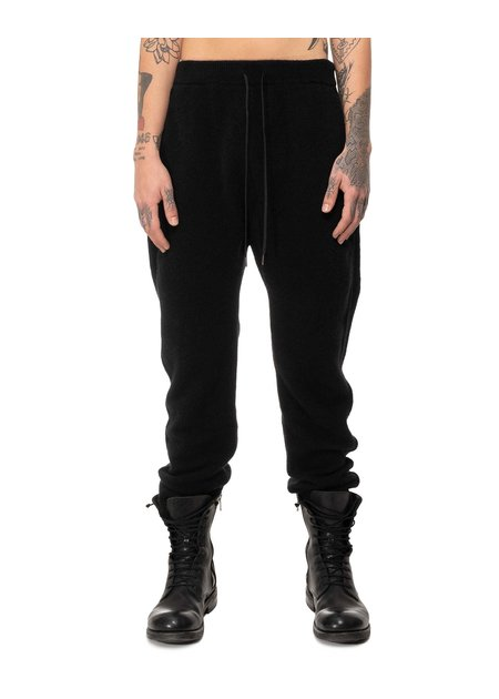 ISABEL BENENATO YAK KNIT TROUSER FW20 - BLACK