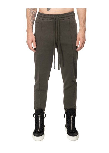 THOM KROM SWEAT TROUSER WITH PLEAT - GREEN