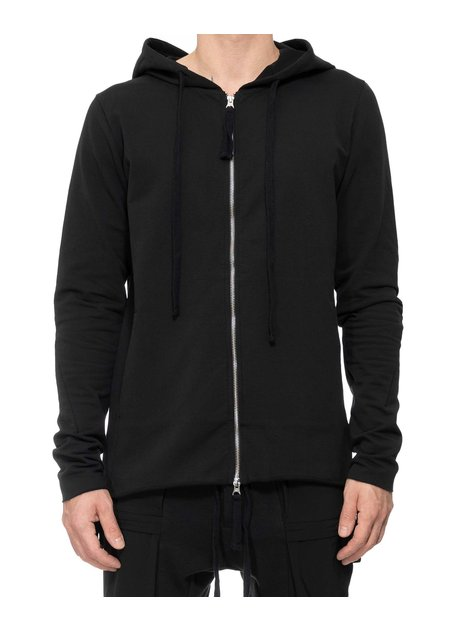 THOM KROM STRETCH MODAL ZIP FRONT HOODIE