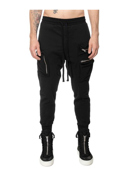 THOM KROM LOW CROTCH ZIP CARGO JOGGER