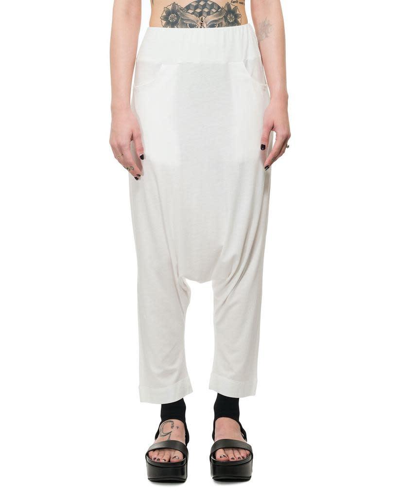 LIGHTWEIGHT JERSEY DROP CROTCH PANTS - OFF WHITE