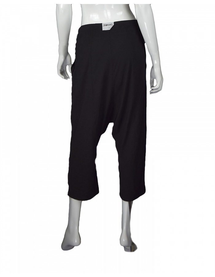 LOST AND FOUND ROOMS SOFT CROPPED COTTON AND LINEN PANT
