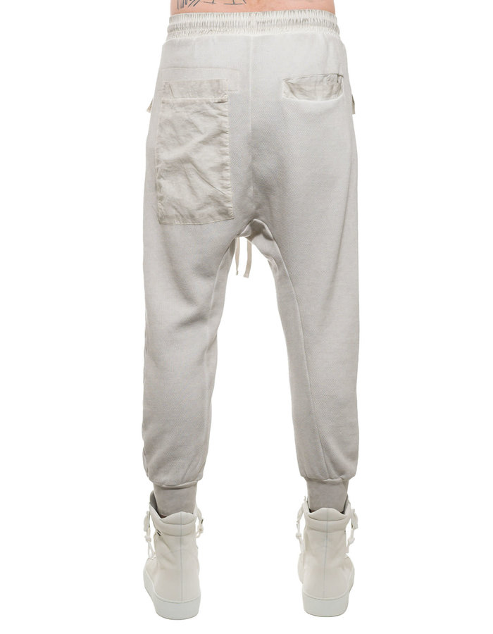 THOM KROM LOW CROTCH JOGGER W/ PATCH POCKET - CREAM