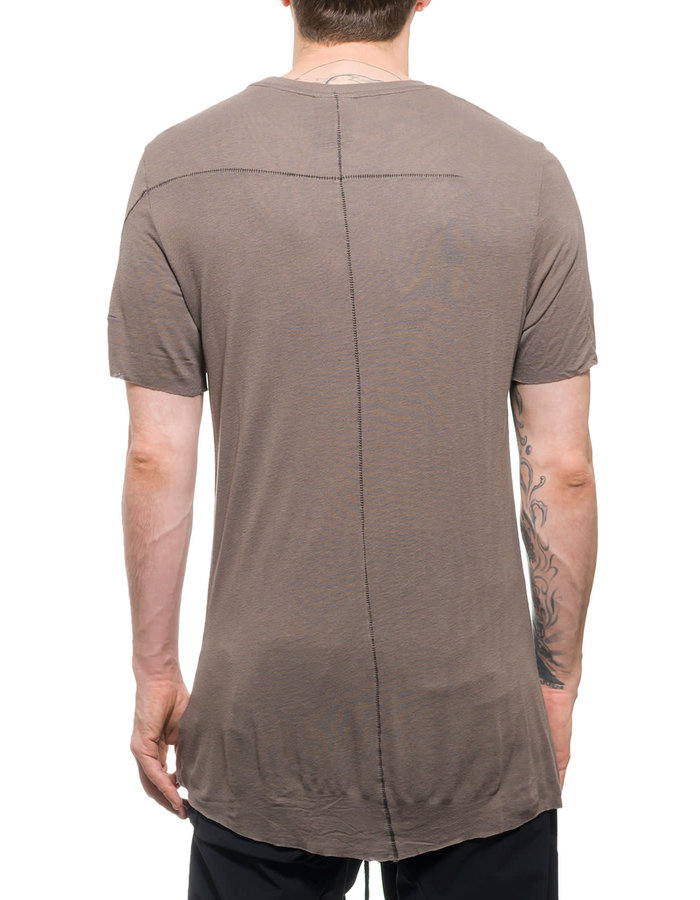 THOM KROM TK20 CLASSIC SHIRT IN VISCOSE AND LINEN - SAND