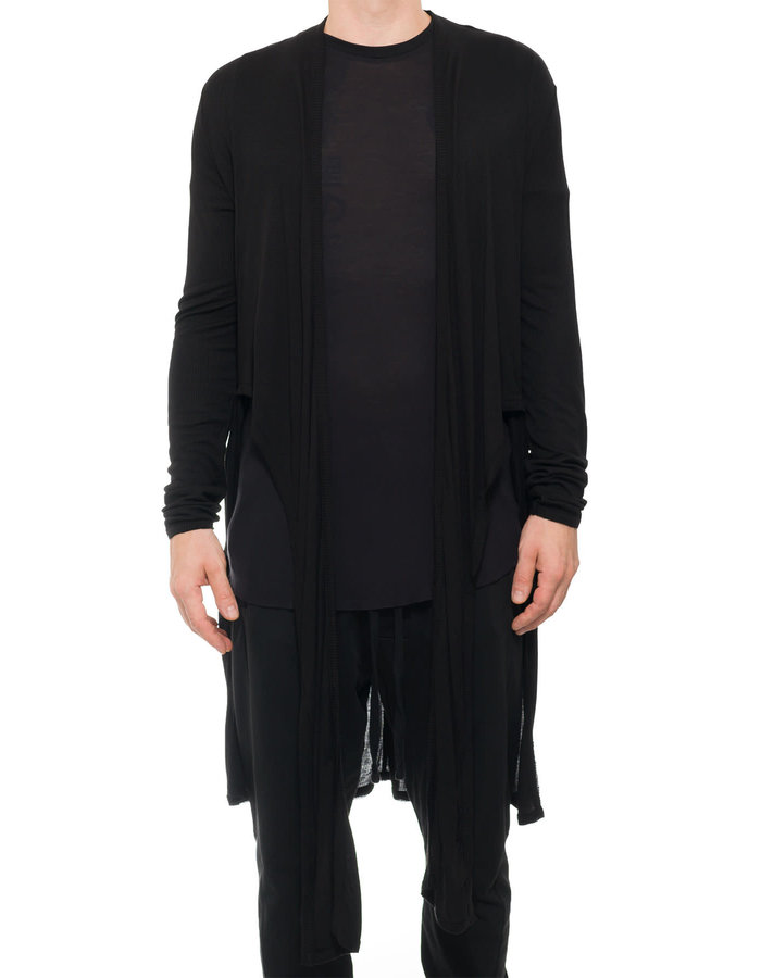 FIRST AID TO THE INJURED CALVINUS CARDIGAN - BLACK