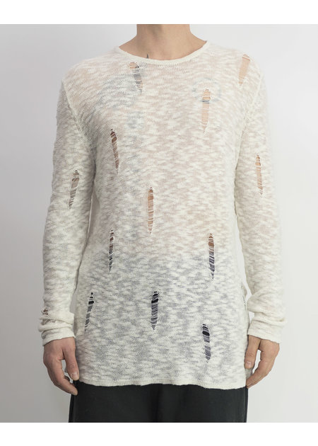 FIRST AID TO THE INJURED MASTOID KNIT BLOUSE - SNOW