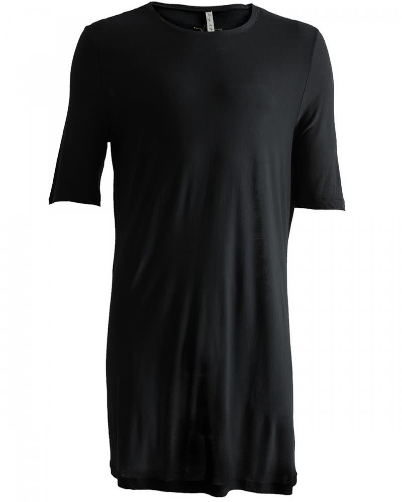LUNATE LONG TEE - BLACK