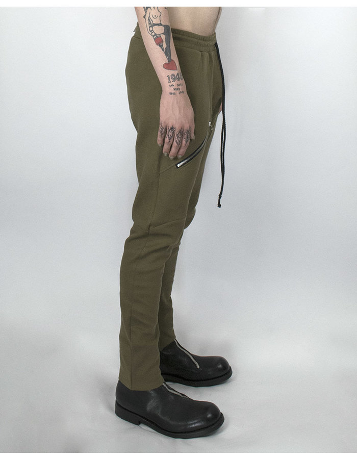 LOST AND FOUND ROOMS COTTON ZIP PANT - BRONZE