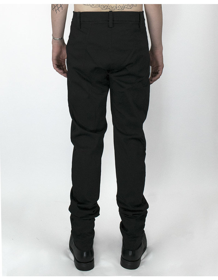 LOST AND FOUND ROOMS SLIM PANT WITH ZIPPERED POCKET - BLACK