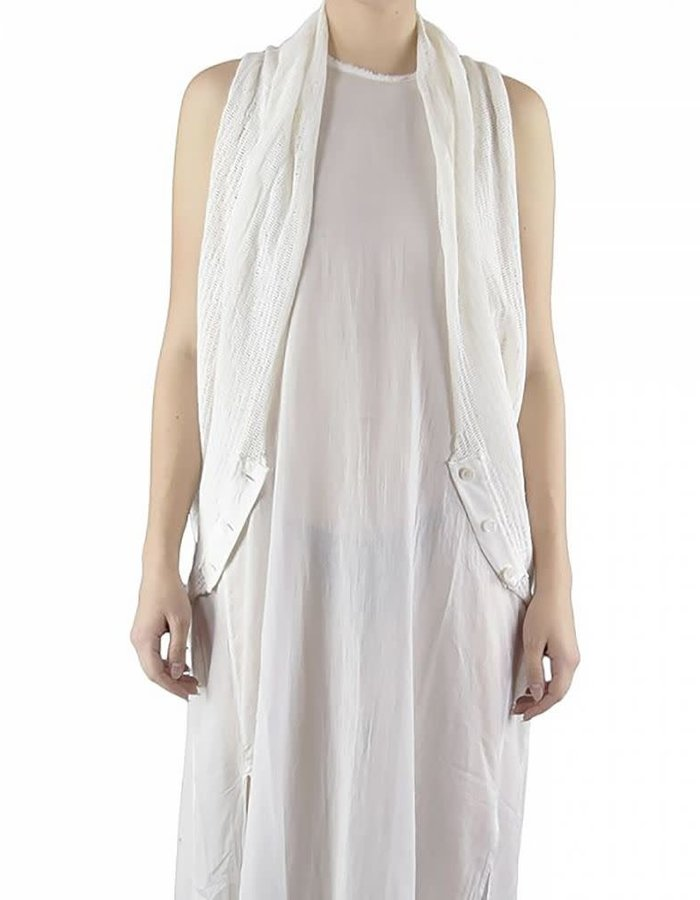LOST AND FOUND ROOMS MESH VEST STRETCH COTTON - WHITE