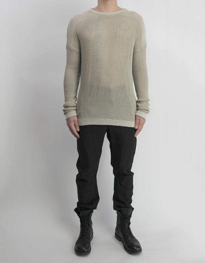 LOST AND FOUND ROOMS COTTON KNIT CREW SWEATER - SAND