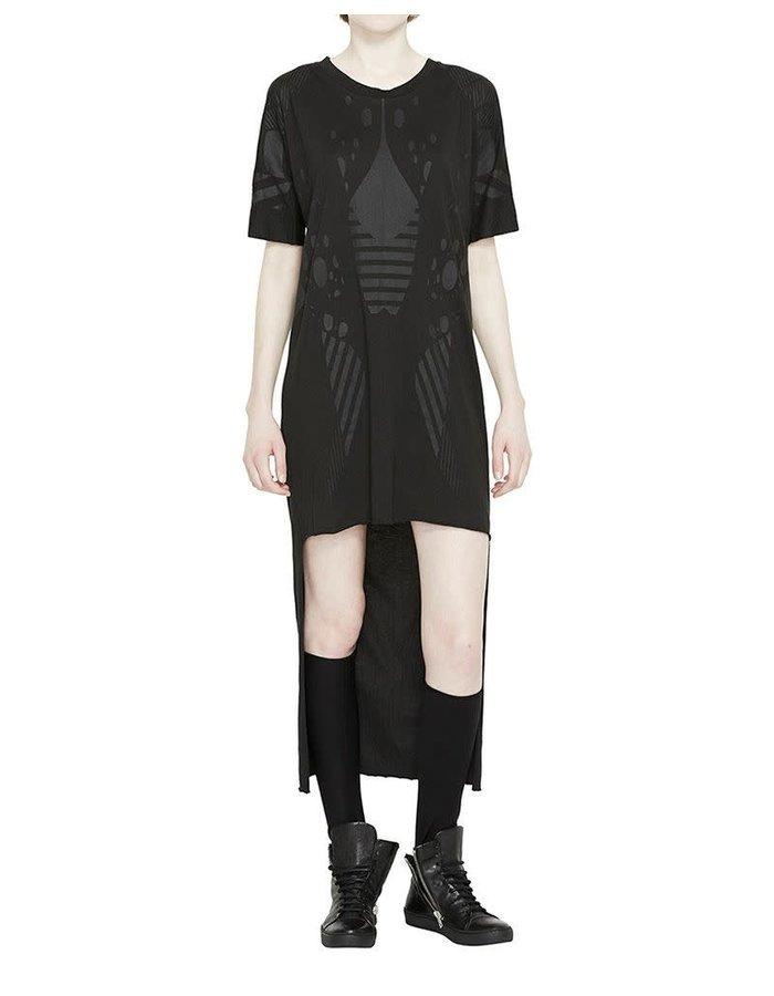BARBARA I GONGINI DRESS COTTON MODAL - BLACK