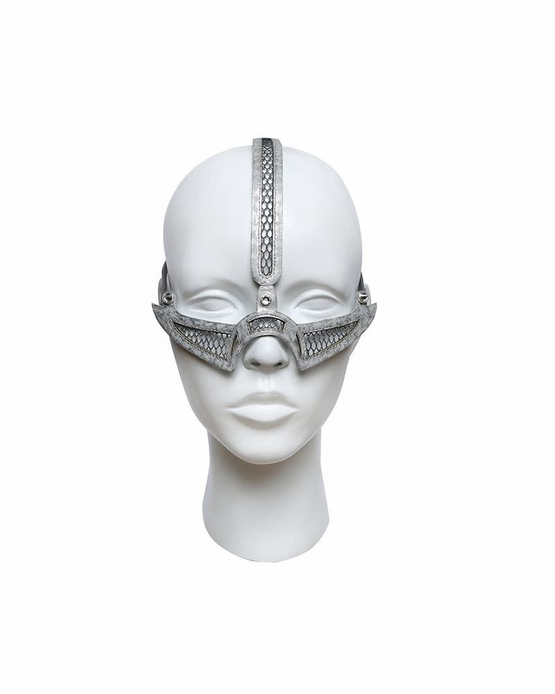 CRESCENT MOON MASK - SILVER