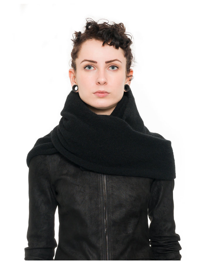 ISABEL BENENATO YAK SNOOD 19 WOMAN - BLACK