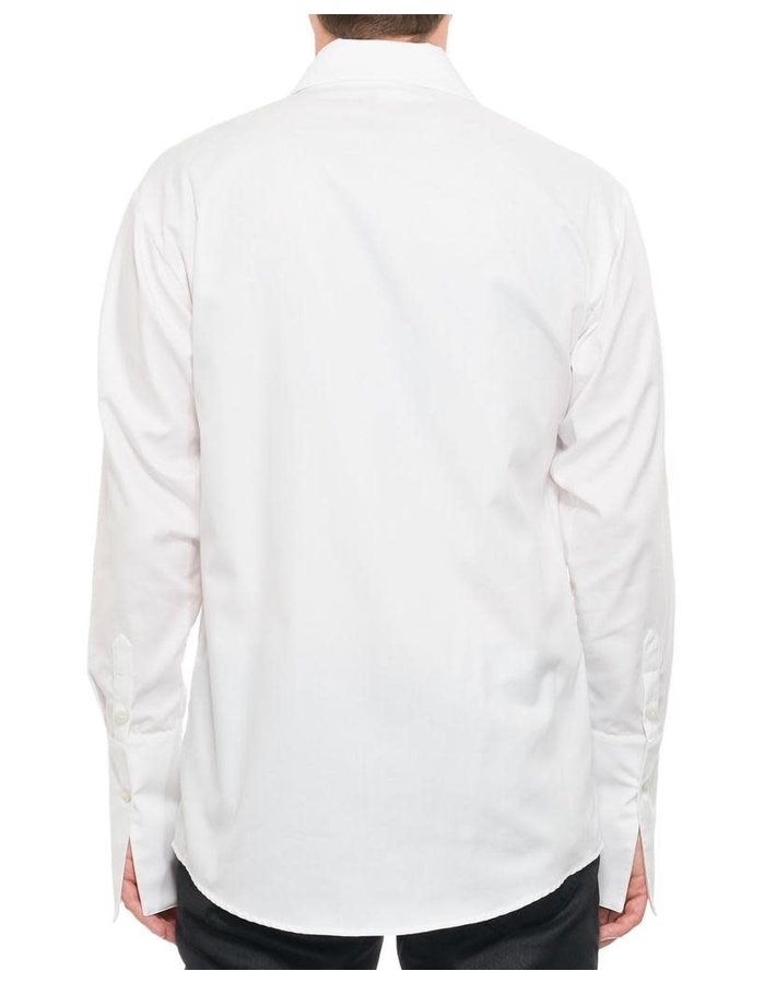 NOSTRA SANTISSIMA PLEATED FRONT DRESS SHIRT