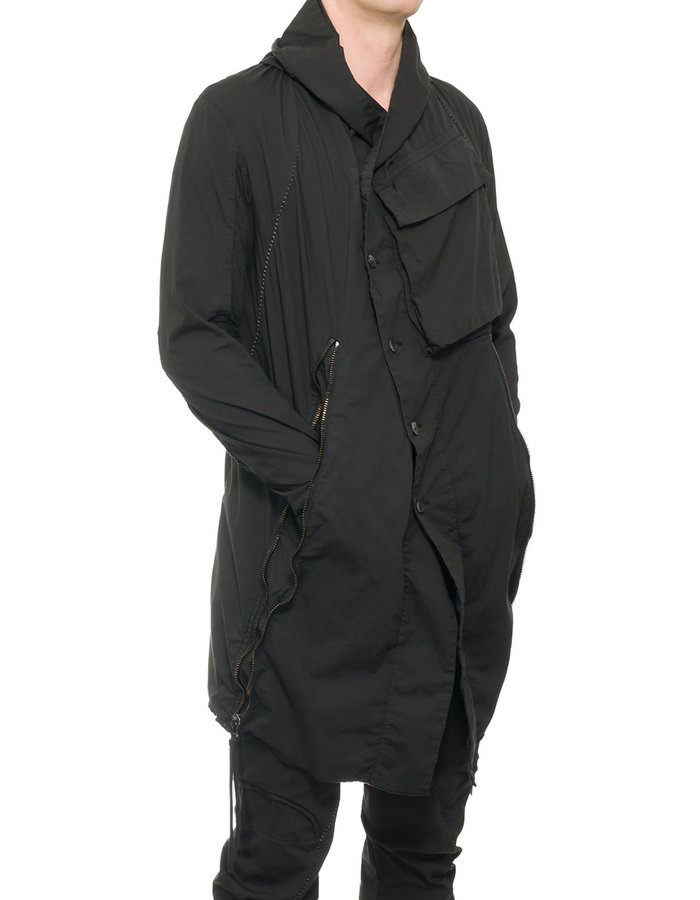 MASNADA TARGET PERFORATED PARKA - BLACK