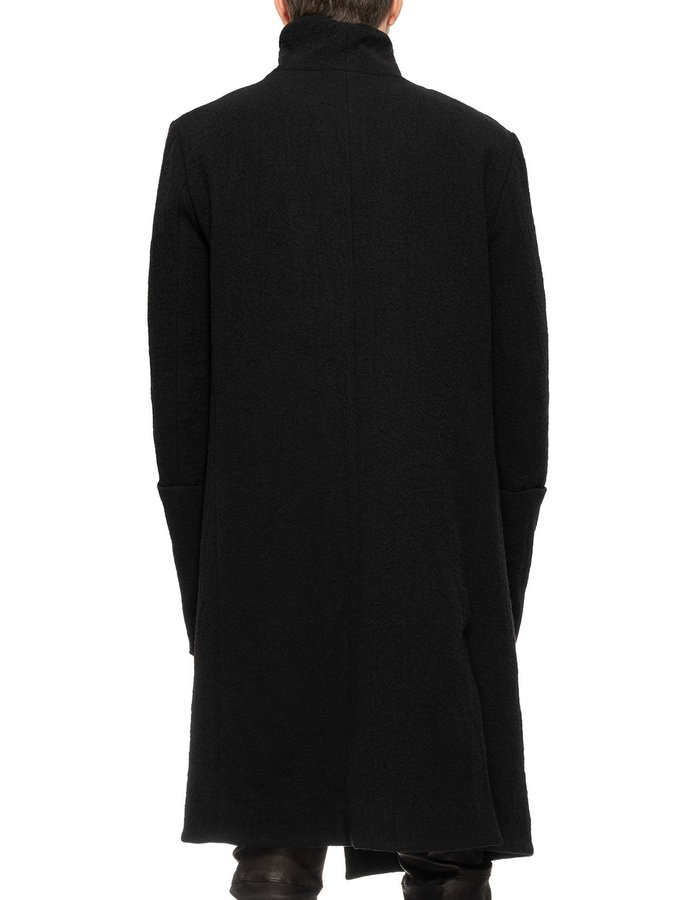 10SEI0OTTO HIGH NECK WRAP WOOL COAT W/ EXPOSED LINING