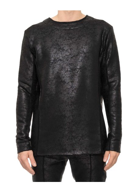 DAVIDS ROAD LEATHER EFFECT LONG SLEEVE