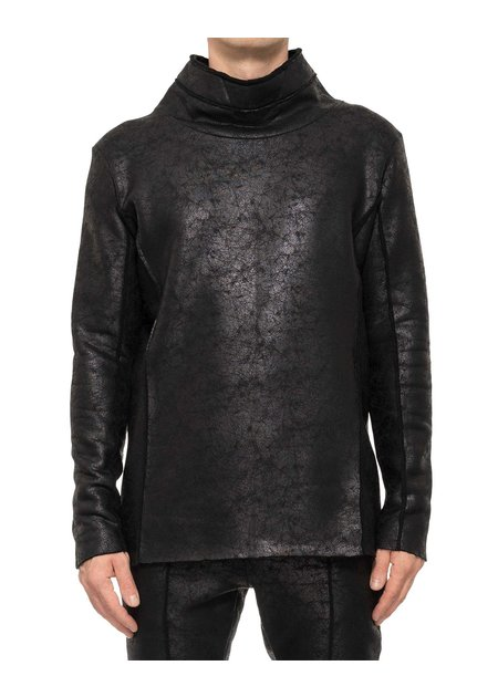 DAVIDS ROAD HIGH NECK LEATHER EFFECT LONG SLEEVE
