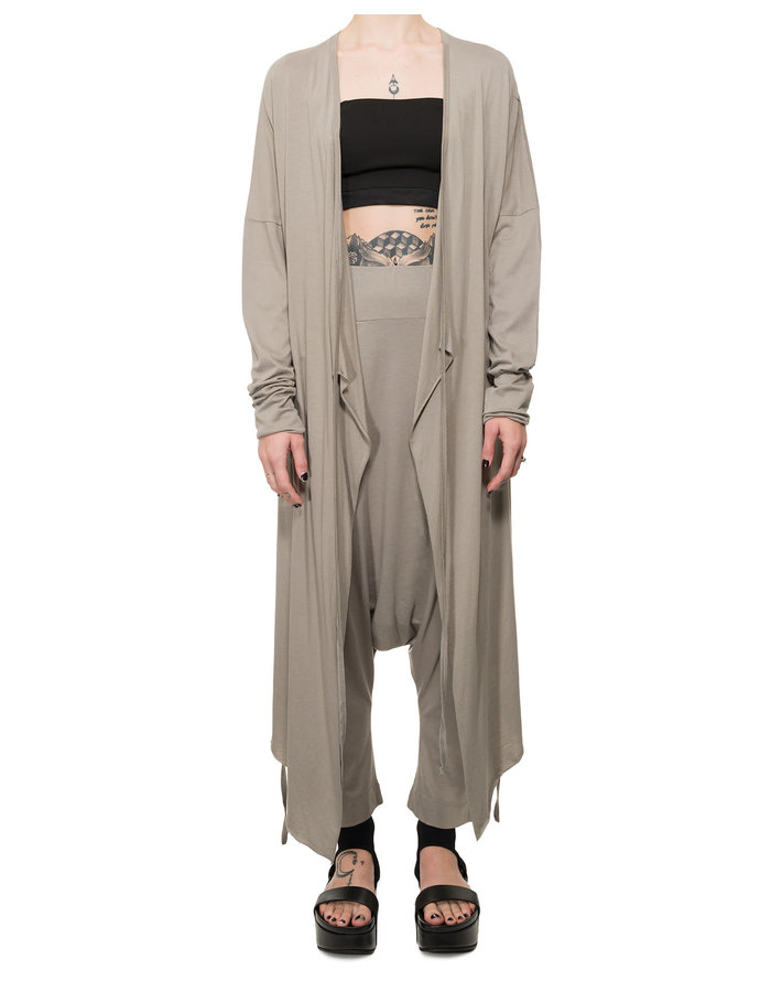 STUDIO B3 COTTON AND MODAL LONG CARDIGAN - BEIGE