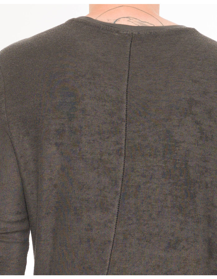 THOM KROM TEXTURED BAMBOO LONG SLEEVE - TAUPE