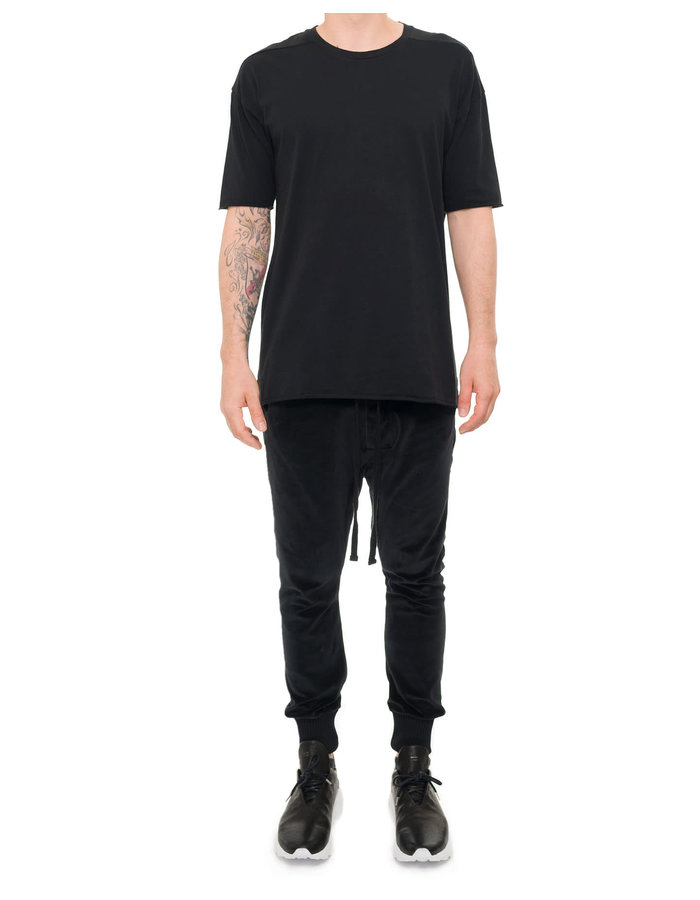 THOM KROM COTTON VELVET JOGGER - BLACK