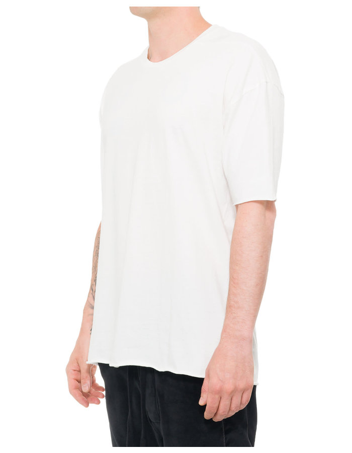 THOM KROM COTTON T-SHIRT W/ CONTRAST BACK PRINT - OFF WHITE