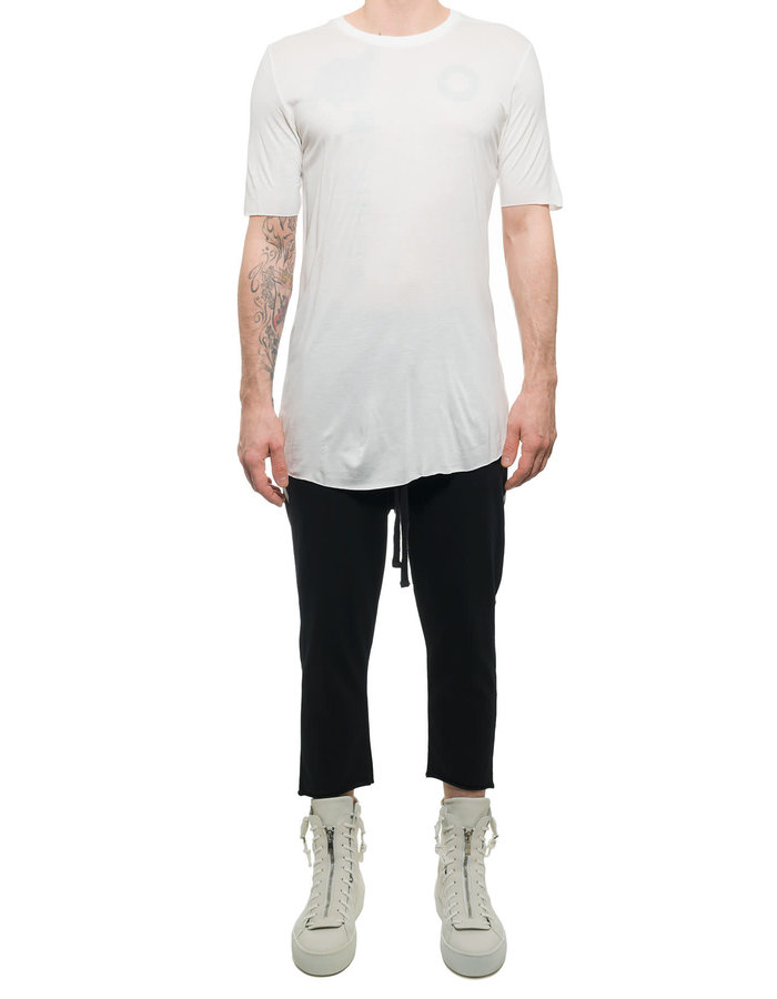 THOM KROM T-SHIRT IN VISCOSE AND SILK - OFF WHITE