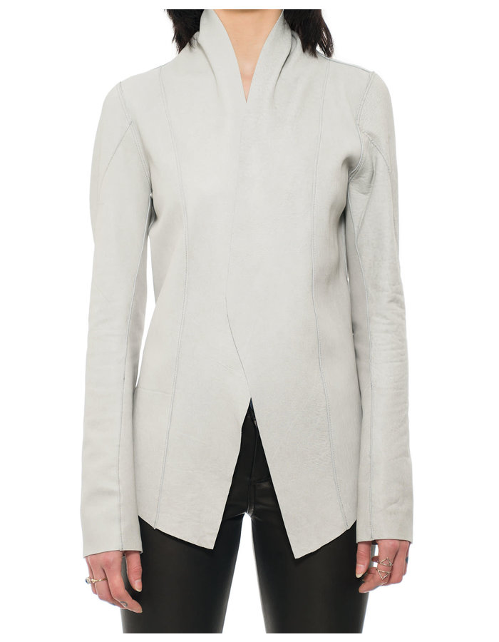10SEI0OTTO REVERSIBLE LEATHER BLAZER - OFF WHITE
