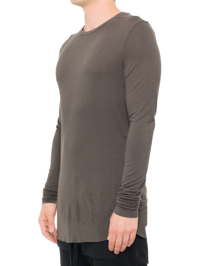 THOM KROM VISCOSE AND SILK LONG SLEEVE - TAUPE