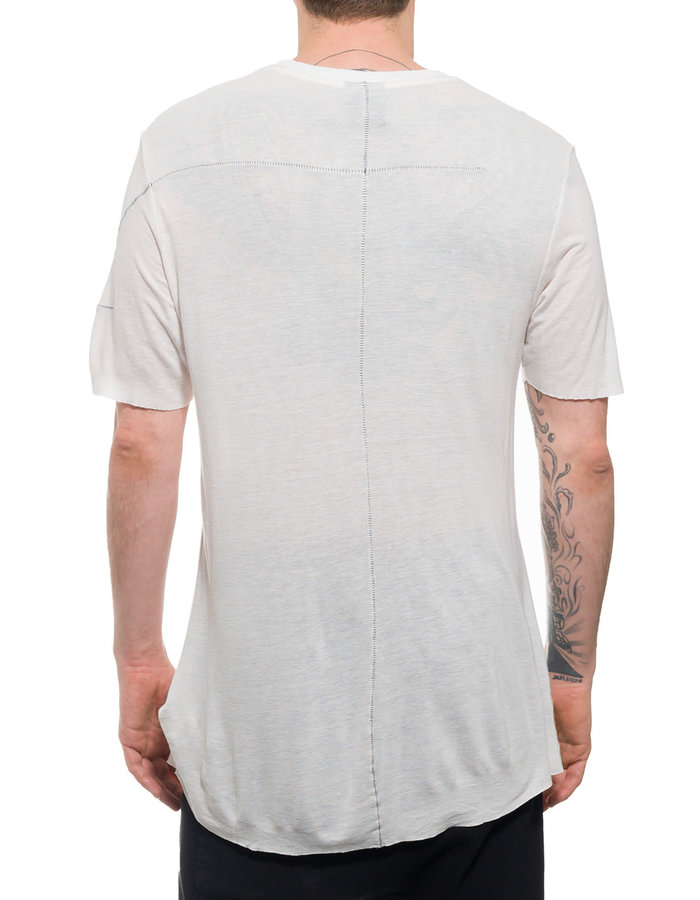 THOM KROM TK20 CLASSIC SHIRT IN VISCOSE AND LINEN - OFF WHITE