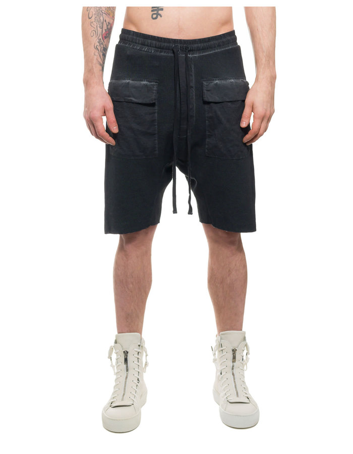 THOM KROM LOW CROTCH SHORT WITH PATCH POCKET - OIL